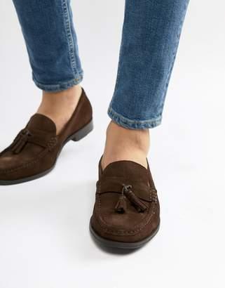 Ben Sherman Loafers Tassel Loafers In Brown Suede
