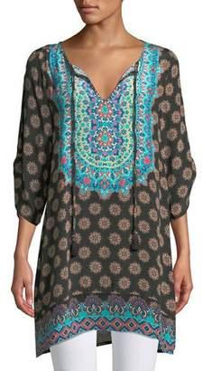 Tolani Sanaya Medallion-Print Tunic, Plus Size
