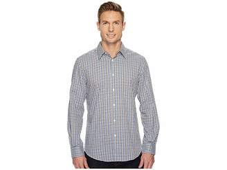 Perry Ellis Long Sleeve Multicolor Check Dobby Shirt Men's Long Sleeve Button Up