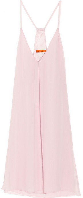 Alice + Olivia Fierra racer-back silk-chiffon dress