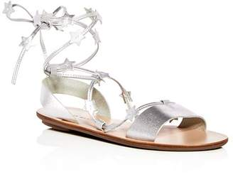 Loeffler Randall Women's Starla Leather Ankle Tie Sandals