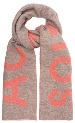 Acne Studios Toronty Intarsia Wool Scarf - Womens - Pink