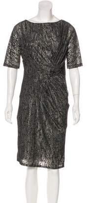 Reiss Textured Knee-Length Dress