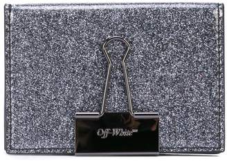 Off-White glitter card holder