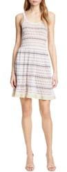 Rebecca Taylor Pointelle Stripe Sweater Dress