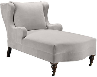 Mr & Mrs Howard Montclaire Chaise - Light Gray Velvet