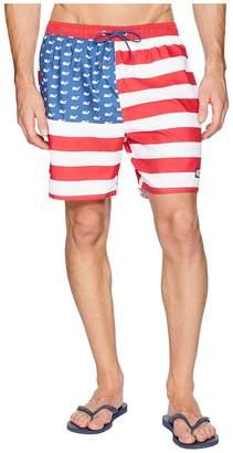 Vineyard Vines USA Flag Chappy Swim Trunks Men's Swimwear