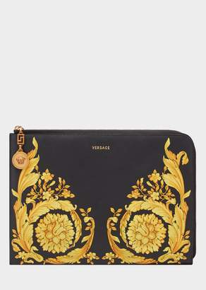 Versace Baroque SS'92 Print Leather Pouch