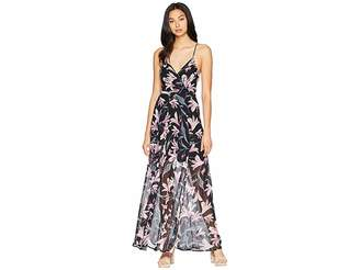 ASTR the Label Tie Back Wrap Maxi Dress