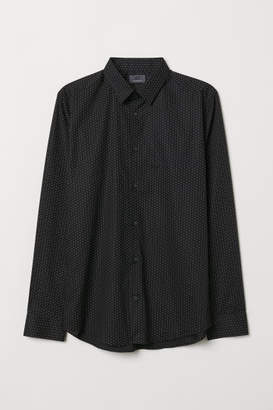 H&M Premium Cotton Shirt - Black