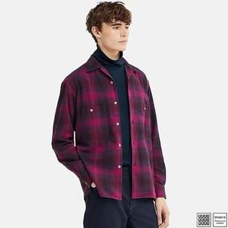 Uniqlo Men's U Flannel Open Collar Long-sleeve Shirt