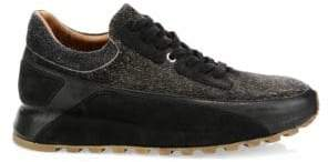 John Varvatos LES Suede Low Trainers
