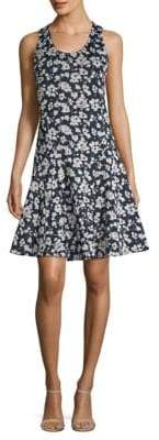 Derek Lam Sleeveless Floral Fit-&-Flare Dress