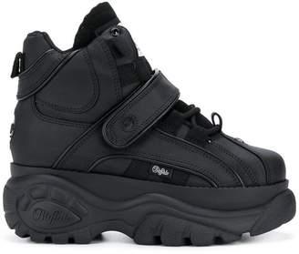3d5b51ee10d Buffalo David Bitton Black 1348 Platform Sneaker Boots