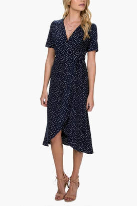Everly Polka-Dot Wrap Dress
