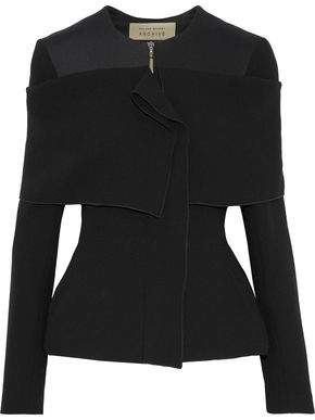 Roland Mouret Neoprene-Paneled Wool-Crepe Jacket