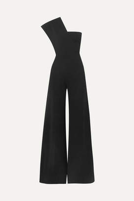 Stella McCartney One-shoulder Ponte Jumpsuit - Black