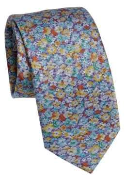 Saks Fifth Avenue COLLECTION Multi Floral Print Tie