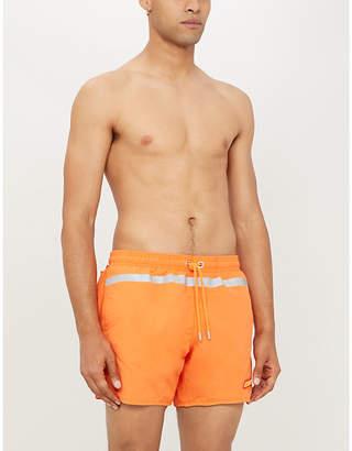 Heron Preston Logo-patch panelled swim shorts