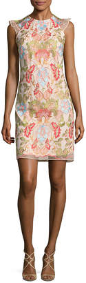 Donna Ricco Floral Embroidery Dress
