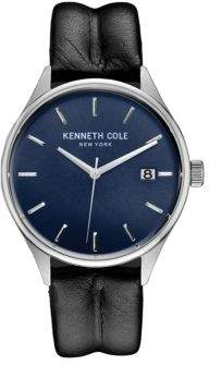 Kenneth Cole Mens Round Leather Watch