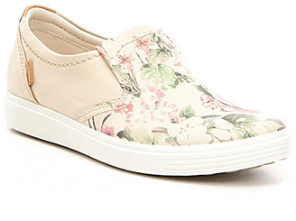 ECCO Soft 7 Floral Leather Slip-Ons $150 thestylecure.com
