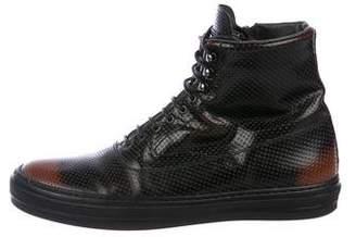 Alexander McQueen Leather High-Top Sneakers