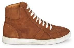 Saint Laurent Joe Suede High-Top Sneakers