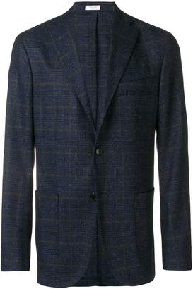 Boglioli three-button check blazer