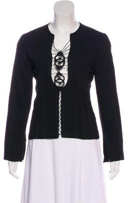 Sophia Kokosalaki Wool Long Sleeve Top