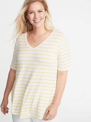 Old Navy Luxe V-Neck Elbow-Sleeve Plus-Size Tunic Tee