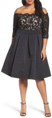 Plus Size Women's Eliza J Off The Shoulder A-Line Dress $198 thestylecure.com