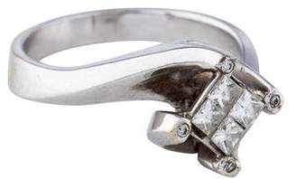 Ring 18K Invisible Set Diamond