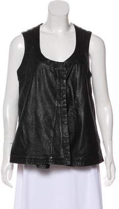 DAY Birger et Mikkelsen Leather Scoop Neck Vest