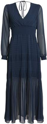 Intermix Adriana Pleated Chiffon Dress