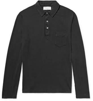Officine Generale Cotton-Jersey Polo Shirt