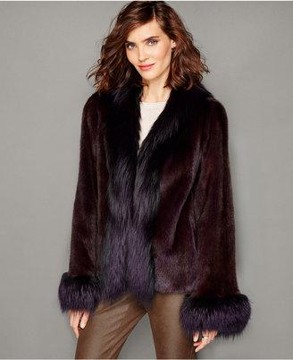 The Fur Vault Fox-Trim Mink Fur Jacket $4,995 thestylecure.com