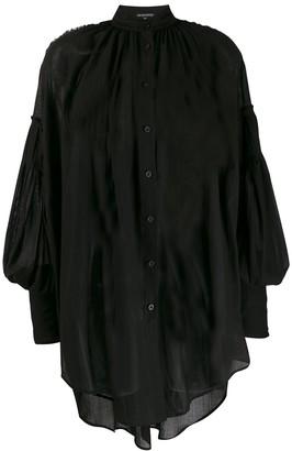 Ann Demeulemeester oversized sheer shirt