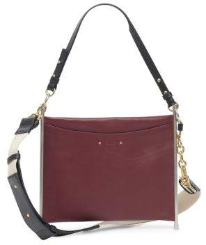 Chloé Roy Canvas Strap Grained Leather Bag