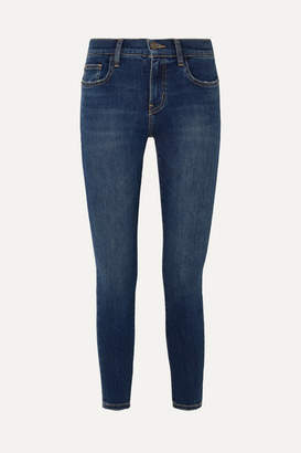 Current/Elliott The Stiletto Cropped High-rise Skinny Jeans - Mid denim
