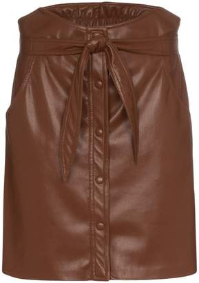 Nanushka belted faux leather mini skirt