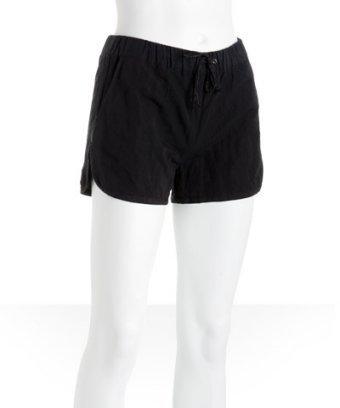 Alexander Wang black eighties-style running shorts
