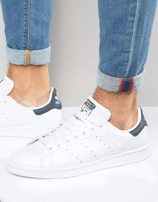 adidas Stan Smith Leather Trainers In White M20325