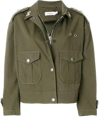 Coach embroidered military jacket