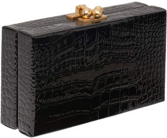 Edie Parker Jean Croc-Embossed Box Clutch Bag