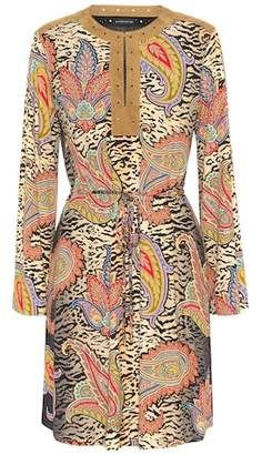 Etro Printed tie-waist dress