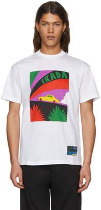 Prada White Car T-Shirt