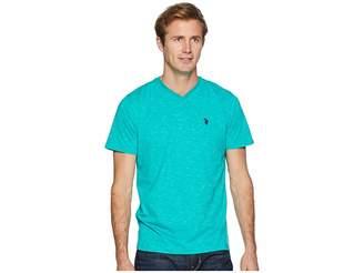 U.S. Polo Assn. Space Dyed V-Neck T-Shirt Men's T Shirt