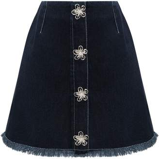 TUGBITTER - A-Frame Skirt With Brooches