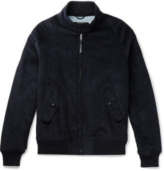 GoldenBear Golden Bear - The Presidio Barracuda Cotton-Corduroy Bomber Jacket - Men - Navy